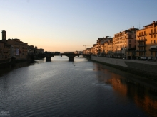Italian Town, River Crossing at Dusk