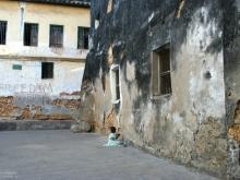 Girl in Courtyard